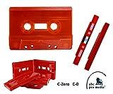 abc promedia®, C-Null, C-Zero - Cassette - Shells, C-0 MC Leer-Kassetten, gepresst, rot (50)