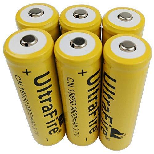 Cloverclover 6 X 3.7V 18650 9800mAh batería recargable