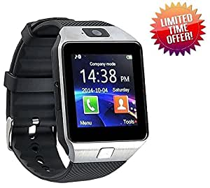 iBall Andi 5N Dude Compatible Smart Watch For Men 4g Phones Compatibility Original Smartwatch Wristwatch Mobile with Camera & SIM Card Support New Arrival Best Selling Premium Quality Lowest Price Apps like Facebook Whatsapp Twitter Functions Time Schedule Read Message News Sports Health Pedometer Sedentary Remind Sleep Monitoring Better Display Loudspeaker Microphone TouchScreen Multi-Language Micro SD Memory Card Supports All Android and Apple IOs iPhone Smartphone by CASVO