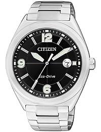 Citizen AW1170-51E - Reloj analógico de cuarzo para hombre, correa de acero inoxidable multicolor