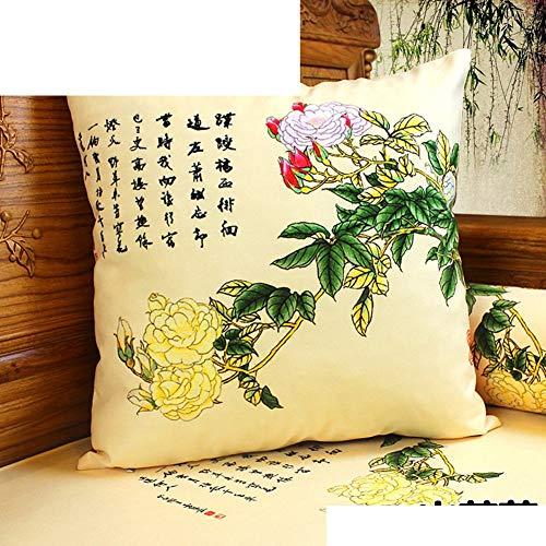 Jffffwi stile classico [fiori di piante] [peluche] cuscino per la vita/cuscino/federe per cuscini-l 55x55cm (22x22inch) versionea