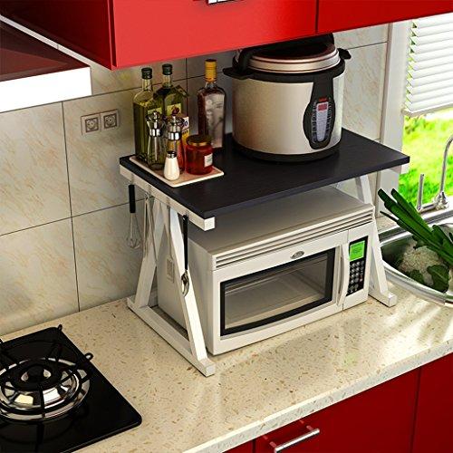 CHANG-dq Eisen Kunst Lagerregal, Küche Lagerung Mikrowelle Regal Gewürz Rack Ofen Rack Reis Herd Rack Desktop Regal 57 * 37 * 40 CM Lager (Color : B) - Ersatz-ofen-racks