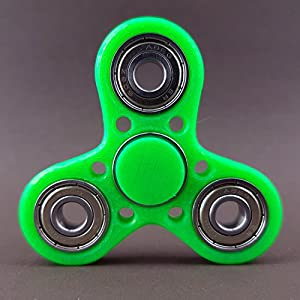 Fidget Spinner Brass Hand Toy Finger Pocket Desktoy ADHS Stress 3D Druck (Warrior, Neon-Grün)