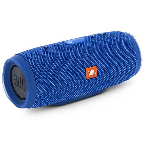 JBL Charge 3 Tragbarer Bluetooth-Lautsprecher (wasserdicht, mit 6000 mAh Power Bank und Freisprechfunktion) blau