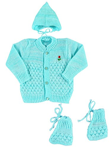 Montu Bunty Wear Baby Boys' Regular Fit Clothing Set (OG3-Surf_Turquoise_New Born)