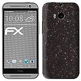 atFolix HTC One M8 / M8s Skin FX-Glitter-Black-Sky Designfolie Sticker - Reflektierende Glitzerfolie