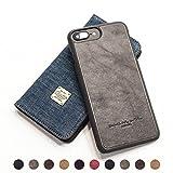 QIOTTI - iPhone 8 I iPhone 7 I iPhone 6s Tasche Leder Case I Abnehmbare Cover 2in1 360 Grad I Ledertasche Kartenfach Echtleder Hülle Lederhülle Ledercase Handyhülle in Denim Blau