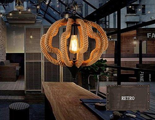 Preisvergleich Produktbild FJTXC Energiesparender Kronleuchter,  Nordic Country Minimalist Lounge Restaurant Cafe Handgewebter Hanfseil-Kronleuchter Garderobe Effizienz: A