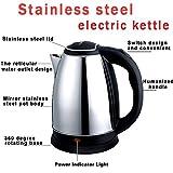 HOME ELITE Shiny Steel Electric Kettle (Silver, 1.8L, EK01)