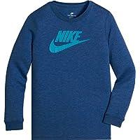 Nike NSW Futura tee LS Overdye, Camiseta de Manga Larga para niño, niño, NSW tee LS Futura Overdye, Lt Game Ryl Htr, XL