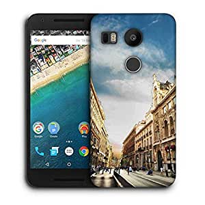 Snoogg Angled Building Designer Protective Phone Back Case Cover for LG Nexus 5X