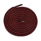 Xiazw Lacet Rond Pour Chaussure Bottes Randonnée Marche Travail,2 paires (180cm, Noir et rouge)