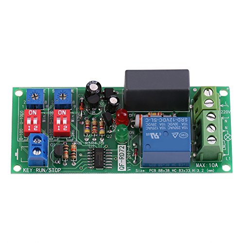 AC100V ~ 250V Infinite Cycle Delay Unendliche Zyklus Timer Relais Schalter Loop Switch Modul mit LED Display 0,5s ~ 1000min Einstellbar - Time-delay-schaltungen