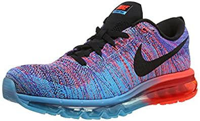 Nike Flyknit Max Blue Laggon Men'S Running Shoes-620469-401-Size-9