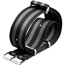 BlueBeach® 22mm Nato Nylon Sustitución de la correa de pulsera para Pebble Time / Motorola 360 2nd Gen / Samsung Gear 2 R380 R381 R382 / LG G Watch W100 / LG G Watch R W110 / LG Watch Urbane W150 / Asus ZenWatch / Asus Vivowatch