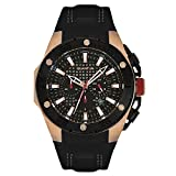 Quantum Hunter, Gold/Black, 50 mm, Leather Black with Rose Stiches