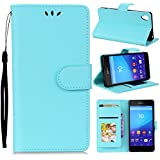 Sony Xperia X Case, Sony Xperia X Cover Thin Flip Cover Case Backcase Back Shell Phone Case Compatible With Sony Xperia X By Danallc (Sky Blue)