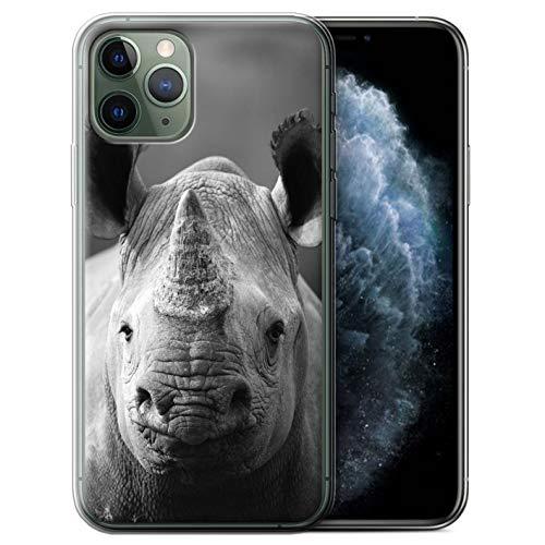 Hülle Für Apple iPhone 11 Pro Zoo-Tiere Nashorn Design Transparent Dünn Flexibel Silikon Gel/TPU Schutz Handyhülle Case