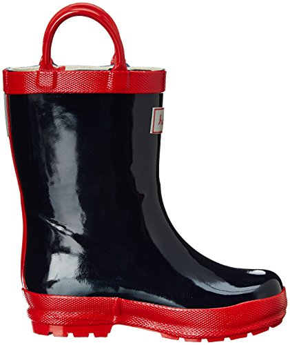 hatley Rainboot Unisex-Kinder Stiefel Blau (Navy With Red)