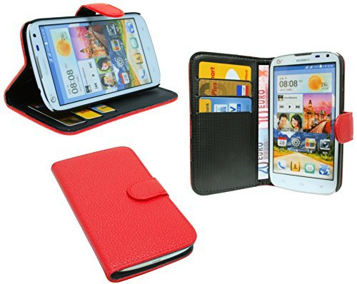 ENERGMiX Huawei Ascend G610 // Buchtasche Hülle Case Tasche Wallet BookStyle mit Standfunktion Pink