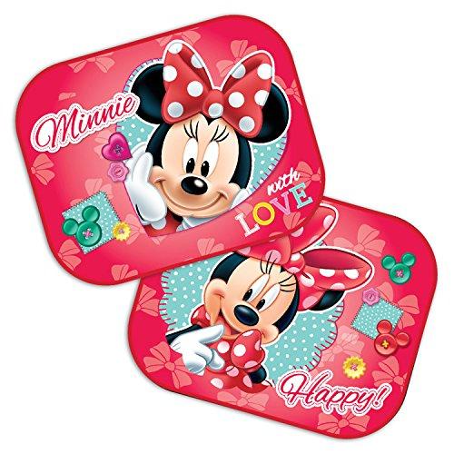 Preisvergleich Produktbild Disney Minnie Mouse: 2 x Auto Sonnenschutz / Vorhänge / Seitenscheibe / Sonnenblende inklusive UV Schutz für Baby und Kind