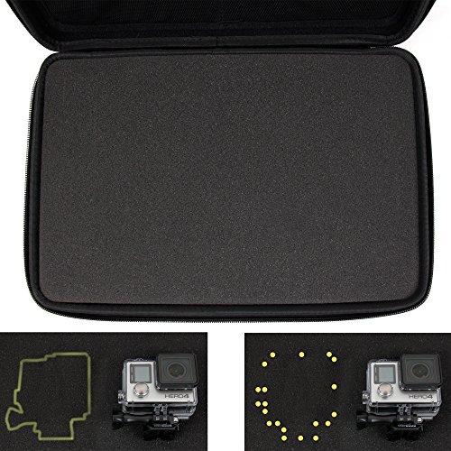 Hartschalentasche / Koffer mit anpassbarer Schaustoffeinlage für UDIRC U839 Nano 3D RC Quadcopter und Zubehör / Ersatzteile - 4