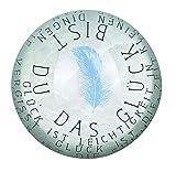 P & P Glas Briefbeschwerer Glück 78mm