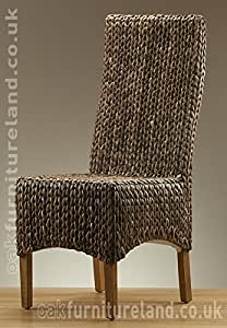 High Back Grass Chair with Light Solid Mango Legs (sold in Pairs only)