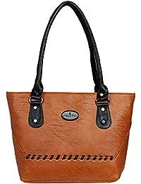 Fristo Down Archi Women's Handbag(Tan And Black)