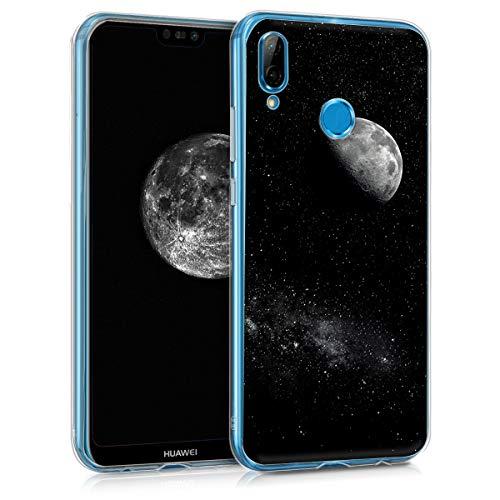 kwmobile Huawei P20 Lite Hülle - Handyhülle für Huawei P20 Lite - Handy Case in Hellgrau Schwarz
