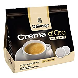 Find Dallmayr Coffee Crema d Oro Mild & Fine Arabica Coffee Pad 16 Pads, velvety by Alois Dallmayr KG