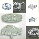#5: Supermall tortoise house Glass Crystal Tortoise in Plate 5x5 inch Fang Shui Vastu Set - Best Gift for Career and Luck best quality