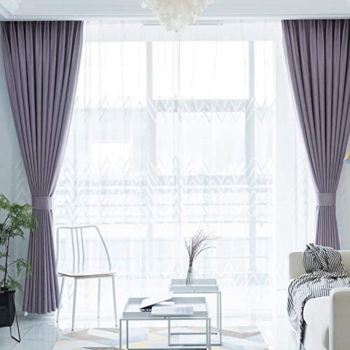 Be&xn tende oscuranti con fermatenda, tende della finestra per soggiorno camera da letto family room, lunghe tende finestra trattamento ganci, 1panel-b 270x300cm(106x118inch)
