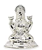 Ashok Jewellers Silver Laxmi Murti for Pooja and Gift (with Head Chakra,47g)