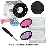 Fotodiox Pro WonderPana Go H3 Underwater Kit GoTough système adaptateur de filtre pour GoPro Hero3 Boîtier étanche avec 2 Eau Correction du filtre (Rose-Rose et Violet-Violet)