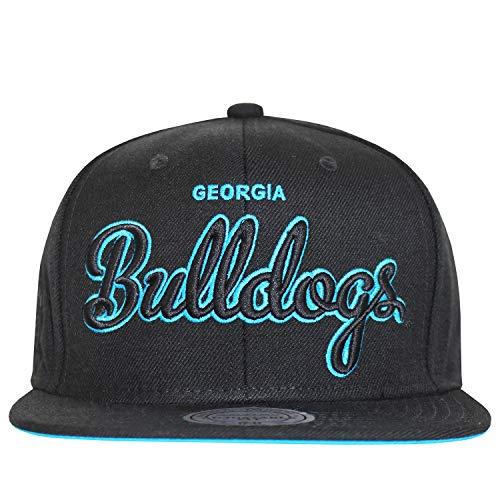 476d7de8e62130 Mitchell & Ness Snapbacks Georgia Bulldogs NCAA University Cap Black