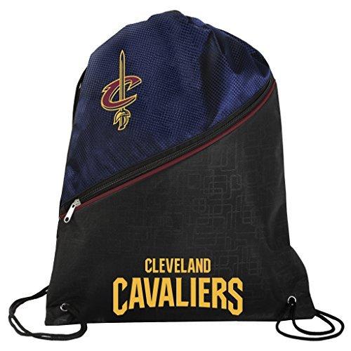 FOCO Cleveland Cavaliers Offizieller NBA High End diagonaler Reißverschluss Kordelzug Rucksack Gym Bag -