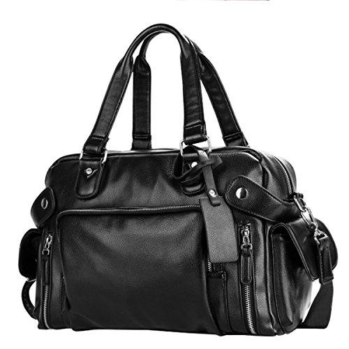 LAIDAYE Männer Tasche Lässig Handtasche Männer Tasche Große Kapazität Tasche Jungen Rucksack Schulter Umhängetasche Reisetasche,Black-OneSize