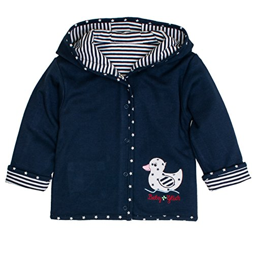 SALT AND PEPPER Baby-Mädchen Jacke BG Jacket Reversible, Blau (Navy Blue 450), 68 (Jacke Mädchen Reversible)