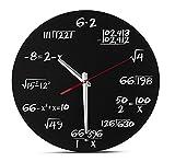 ZWZT Mathe Wanduhr - Einzigartige Wanduhr - jede Stunde markiert durch eine einfache Mathe Gleichung