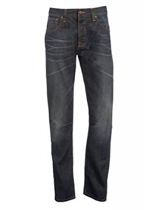 be1b1690561 Nudie Jeans Dark Cross, Steady Eddie Tapered, Distressed Jean Dark cross 30  R