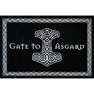Close Up Gate to Asgard Doormat black