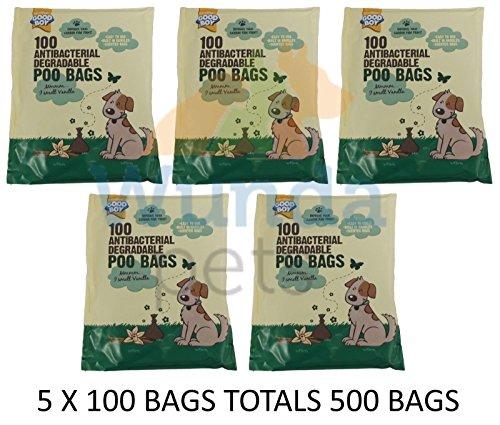 Goodboy Hund antibakteriell abbaubar Poo Mess Abfall Pick Up Taschen 500Pack (Billig Picks)
