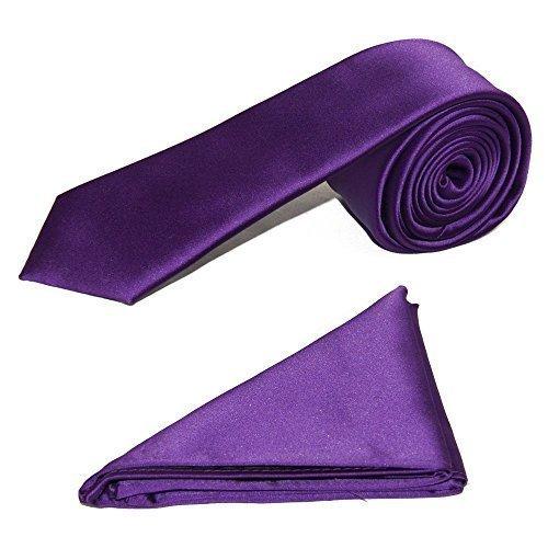 homme-de-luxe-fin-cravate-satin-avec-assorti-poche-carr-cadburys-violet-one-size