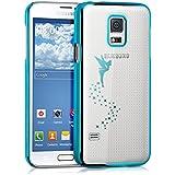 kwmobile Crystal Case Hülle für Samsung Galaxy S5 Mini G800 mit Fee Design - transparente Schutzhülle Cover klar in Blau Transparent