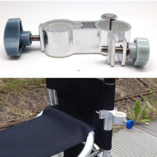 Angeln Stuhl Halterung Stuhl-Schirmhalter Unterstützung Regenschirmhalter Mount Clip Anti Shake Universal Angelzubehör Ausrüstung von Sue Supply