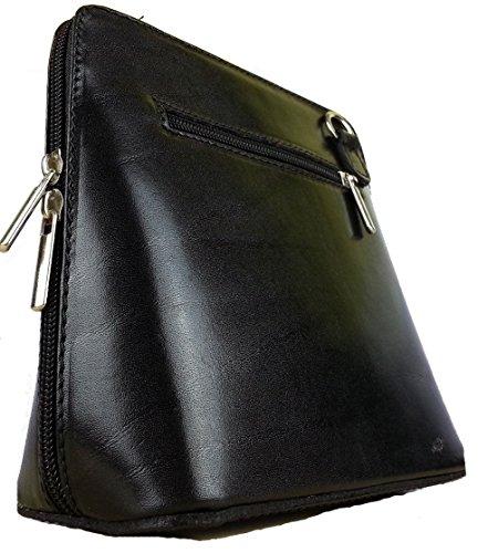 Vera Pelle Bag - Classica borsa da donna, a tracolla donna nero