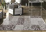 Ayyildiz Moderner Designer Teppich Toscana Braun 200 X 290