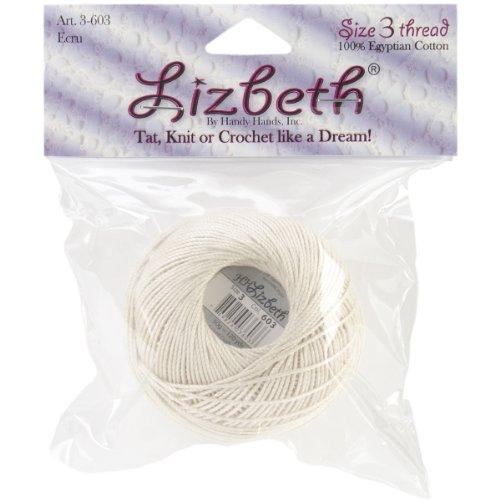 Lizbeth Cordonnet Cotton Size 3-Ecru