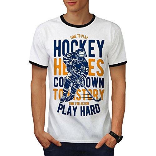 Eishockey Helden Spielen Sport Herren S Ringer T-shirt | Wellcoda (Rallye T-shirt Ringer)